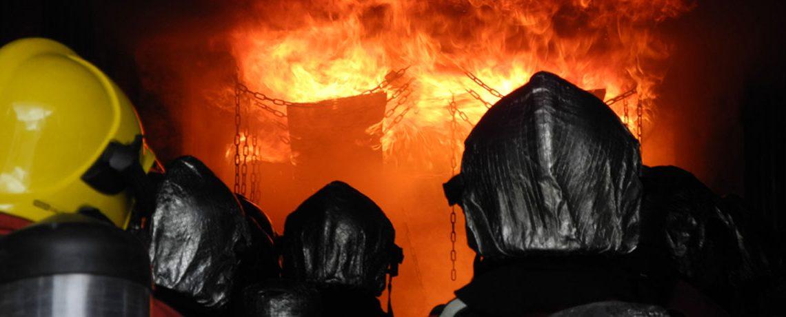 Intervention sur incendie en groupe lors du CFBT 3