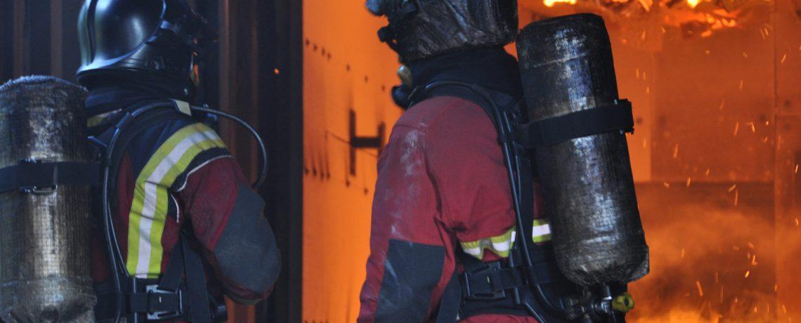 Intervention sur incendie lors du CFBT 1