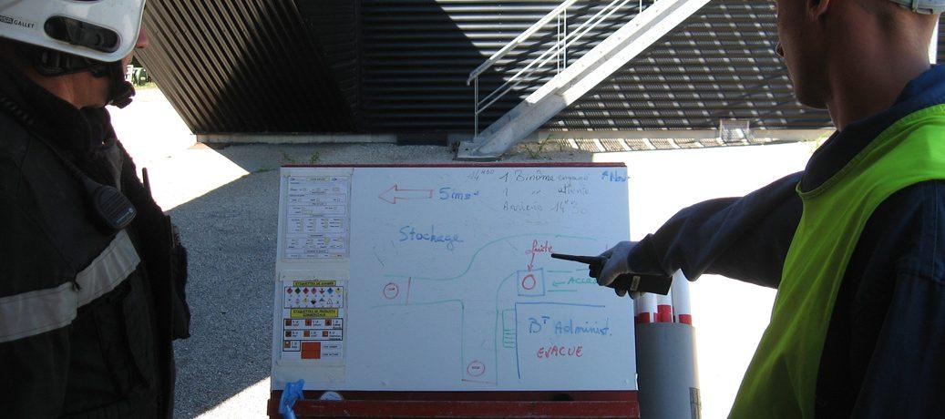 Schéma d'intervention dans le cadre d'un risque chimique