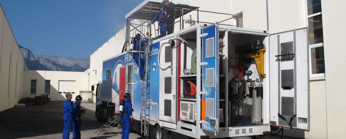 L'unité mobile de formation incendie