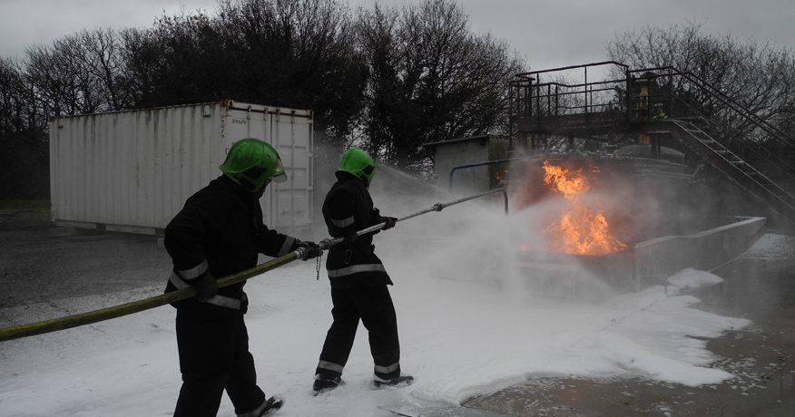 Simulation de feu en extérieur