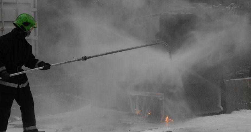 Intervention sur un incendie extérieur