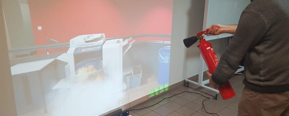 Simulateur incendie par le Centre de formation sécurité en entreprise & incendie Ifopse